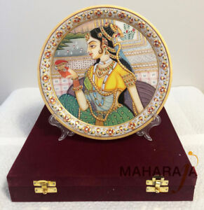 Handcrafted Marble Plates ( Diwali Gift)