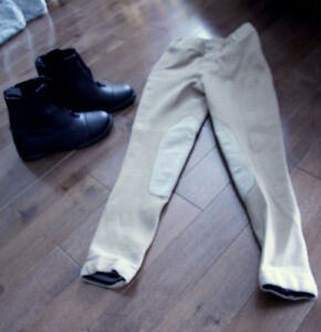 Horsebackriding boots and pants