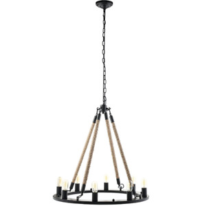 8 light rope chandelier