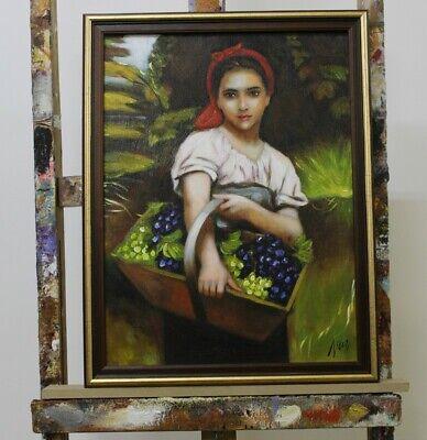 Abstrakte Mädchen (Mädchen mit Obst Abstrakte Malerei Handarbeit Öl Gemälde Bilder G96315)