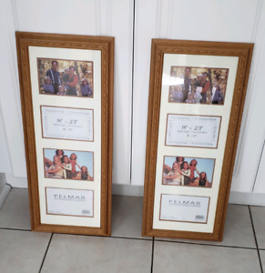 """2 wooden picture frames 8"""" x  23"""""""