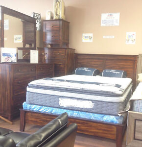 Floor model clearance 7 pieces queen bedroom set $998+FREE DEL!!