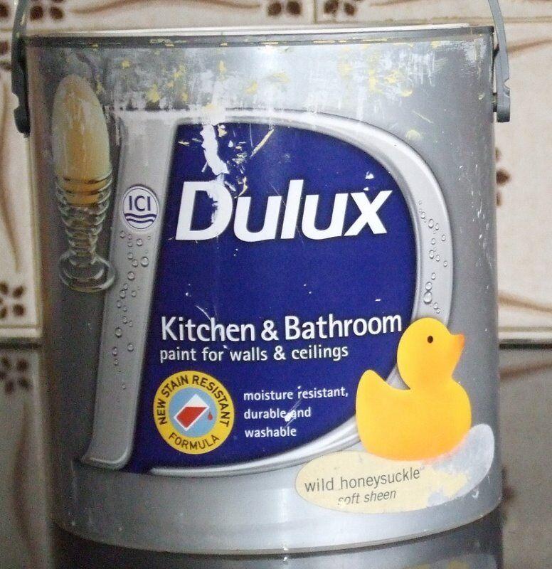 Dulux Kitchen And Bathroom Paint Wild Honeysuckle Soft Sheen Beautiful Shade Of Yellow