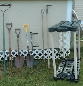 Garden Tools and Tool Caddy