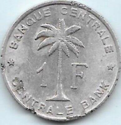 1 Franc Congo-Belge 1959