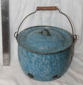 Vintage Antique Granite Ware - Speckled Blue and others