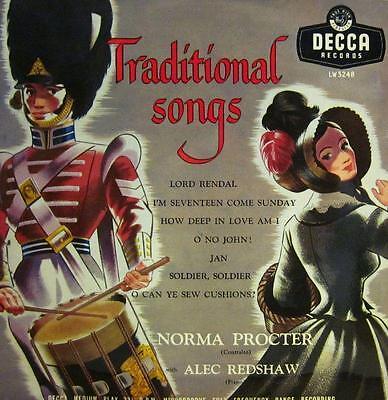"Norman Procter(10"" Vinyl)Traditional Songs-Decca-LW5248-UK-VG+/Ex"