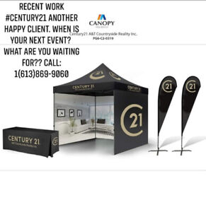 Pop up Tents, Promotional Displays, Table Covers, Banners & More