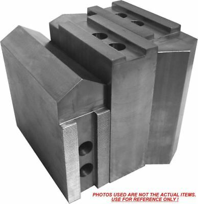 """TG-12400P STEEL SOFT JAWS FOR TONGUE /& GROOVE 12/"""" CHUCK WITH A 4/"""" HT 3 PC SET"""