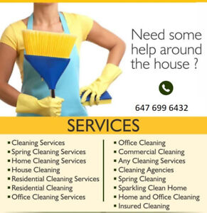 HOUSE CLEANER AVAILABLE,,Call Now 647. 699. 6432