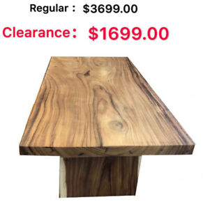 Up To 80% Off !---ACAICA SOLID WOOD DINING TABLE AND BENCH!!!