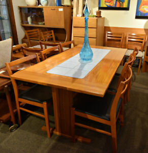 AWESOME DANISH MODERN TEAK TILE TOP TABLE AT CHARMAINE'S