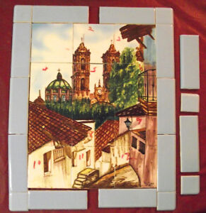 Hand painted tile from Mexico makes beautiful picture