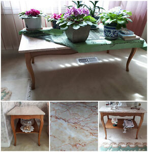 Coffee and two side Tables
