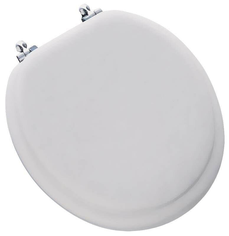 Premium Soft Round Toilet Seat With Chrome Hinge,No 13CP 000,  Bemis Mfg. Co.