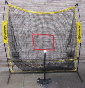 Baseball Hitting Net + Tee + Baseballs Easton XLP 7 Ft