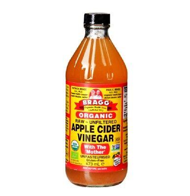 Bragg Organic Apple Cider Vinegar with The Mother Raw-Unfiltered 16 fl oz 473ml