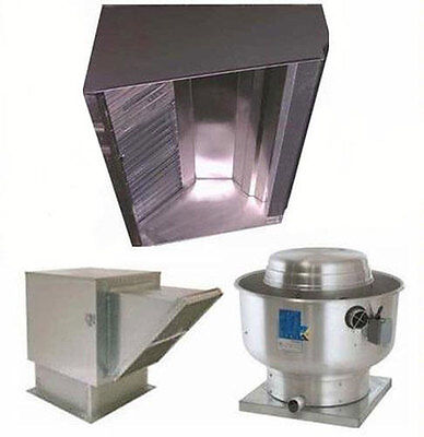 Superior Hoods 12ft Restaurant Hood System W Make-up Air Exhaust Fans