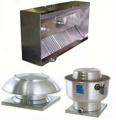 Superior Hoods 8ft Etl Listed Hood System W Make-up Air Exhaust Fans