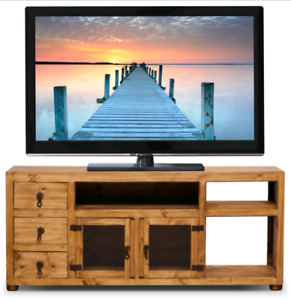 MOVING SALE Rustic solid pine TV Stand... Best offer takes it!