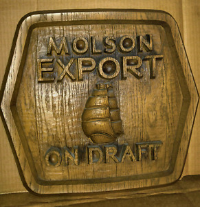 Vintage Molson Export Fake Wood Sign