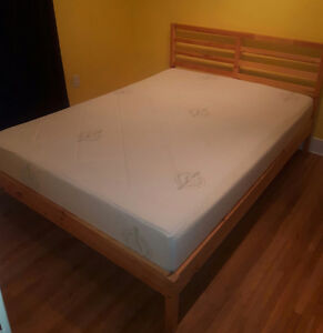 Greenfirst memory foam double mattress and frame