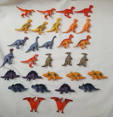 """lot of 30 Mini Plastic Toy Different Dinosaurs  approx 2"""" tall"""