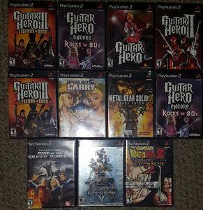 PS2 Games & Guitar Hero Guitars