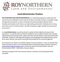Land Administrator - Fairview, AB
