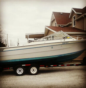 "Immaculate 1987 27ft tempest lake erie fishing boat . ""MUST SEE"""
