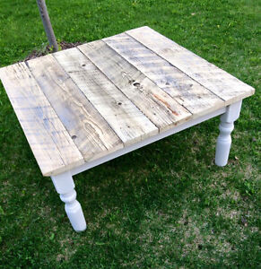 Square Barn wood top coffee table