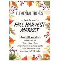 Elemental Trends Fall Harvest Market