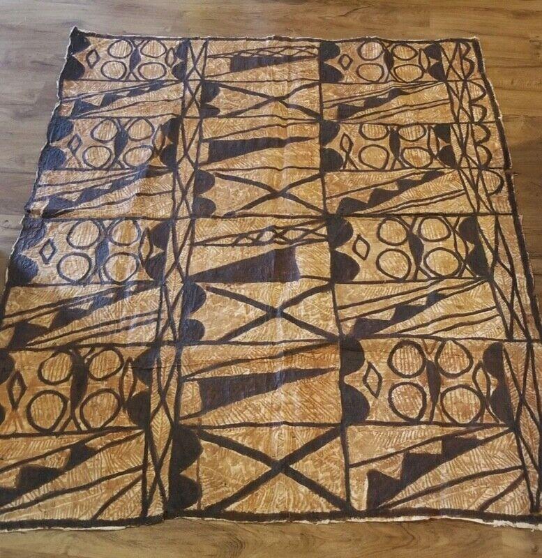 Siapo Samoan Bark Cloth Authentic Polynesian Tapa Wall Art Hawaiian