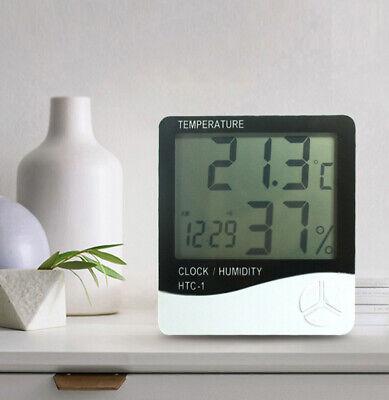 Thermometer Digital Lcd Hygrometer Temperature Humidity Meter Alarm Clock Usa