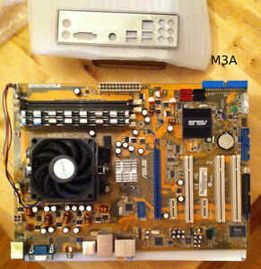 Bundle: Asus M3A mobos w/ cpus, video cards, keyboards, misc
