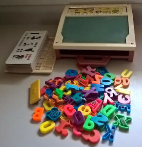 Vintage 1972 Fisher Price School Days Desk  #176 with Alphabet
