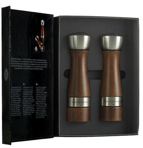 Cole & Mason Oldbury Wooden Salt and Pepper Mill Set , Brown