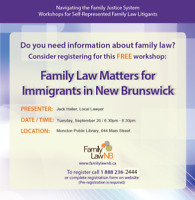 Family Law Matters for Immigrants in New Brunswick