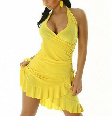 Sexy Damen Latina MiniKleid Salsa Volant V Mini - Sexy Salsa Kleid