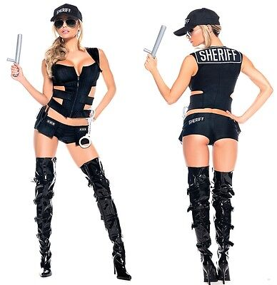 Cute Cop Costumes (Sheriff Sexy Adult Womens Costume HALLOWEEN Cute Cop)