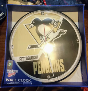 Pittsburgh Penguins Vintage Wall Clock