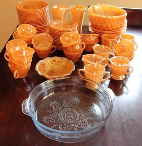 Collectible FIRE KING LOT – 70 pieces Fair to Very Good