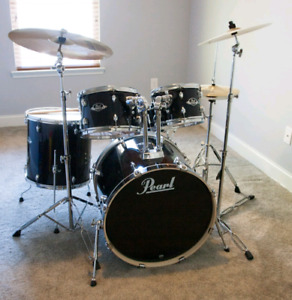 Drum pearl export tout incmut avec 3 cy.bakee comme neuf