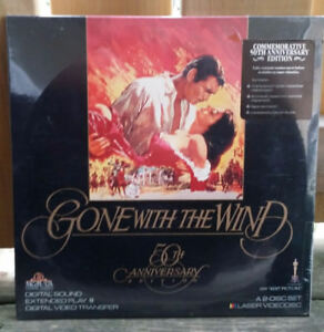 LASER DISC - Gone With The Wind 50th Anniversary In protective c