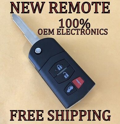 NEW MAZDA 6 RX8 FLIP KEY KEYLESS REMOTE FOB TRANSMITTER KPU41788 4238A-41525