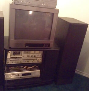 Again reduced RCA TV with Stereo system, speakers & cabinet