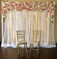 Flower Wall Backdrop Rental! Weddings, Events, Showers