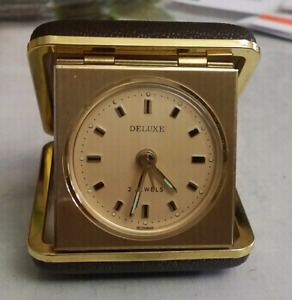 Vintage travel clock, Deluxe