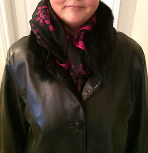 Black Leather Coat. Plus size 16 Kitchener / Waterloo Kitchener Area image 2