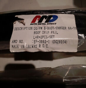 Dodge Charger 68-70 B-Body AMD Drip Rails and other parts